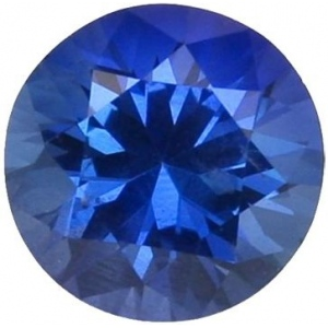 Synthetic Round Sapphire: 6.0mm, 0.80cts