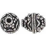Bali Bead Sterling Silver: 10.0 mm Size