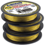 Bead Wire 19 Strand Gold: Plated, 0.018'' Diameter