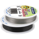 Bead Wire 7 Strand: Black, 0.015'' Diameter