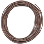 Greek Leather: Dark Brown, 90 m Length, 1.0 mm Diameter