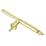 Sterling Stud Back, 27mm Long 4mm Pad with Peg