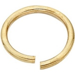 18k Yellow Open Jump Ring: 0.025 Wire x 4.3mm Outside Diameter