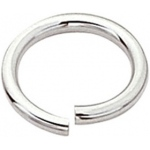 "Sterling Silver Open Jump Ring: 0.035"" Wire x 4.6mm Outer Diameter"