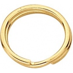 "4.75mm Split Ring: Gold Filled, 0.023"" Wire"