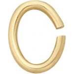 14k Yellow Open Oval Jump Ring: 5.1mm x 3.5mm Dimension