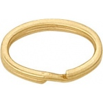 14k Yellow Oval Split Ring: 3.7mm x 6.8mm Size