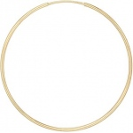 14k Yellow Endless Hoop Earring: 35mm Diameter