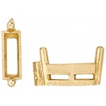 14k Yellow Straight Baguette with Airline: Size 3.0mm x 2.0mm