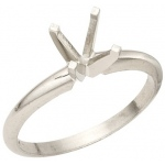 0.25ct Round Solitaire: Platinum, 4-Prong, Mounting Size 6.5
