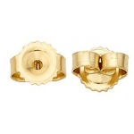 18k Yellow 4.52 x 5.79 Friction Earring Back