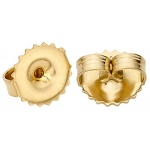 18k Yellow Large Heavier Friction Earring Back