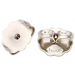 "Platinum Medium Heavy Friction Earring Back: 0.028""- 0.030"" Hole"