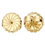 "18k Yellow Swirl Jumbo Friction Earring Back: 0.036"" - 0.040"" Hole"