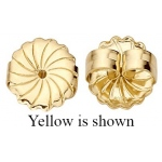 "18k White Swirl Jumbo Friction Earring Back: 0.036"" - 0.040"" Hole"