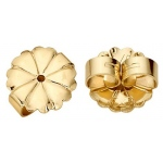 "18k Yellow Plain Jumbo Friction Earring Back: 0.030""- 0.040"" Hole"