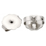 "Platinum Plain Jumbo Friction Earring Back: 0.030"" - 0.040"" Hole"