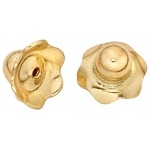 "14k Yellow Child Safe Screw Earring Back: 0.031"" Hole"