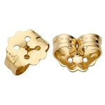 "14k Yellow Push-On Screw-Out Earring Back: 0.031"" Hole"