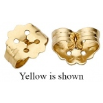 "14k White Push-On Screw-Out Earring Back: 0.031"" Hole"