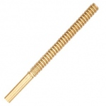 18k Yellow Screw Post: 0.031""