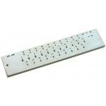 Half Round Steel Drawplate: 20 Hole, 1.00mm - 3.0mm