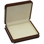 Large Necklace Box: Mahogany/White
