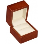 Wooden Ring Box (Slot): Beechwood/Off-White