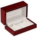 2-Ring Clip Box: Cherrywood/White
