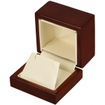 Earring Box: Beechwood/Cream