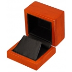Earring Box: Beechwood/Black