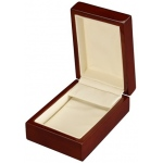 Large Earring Box: Beechwood/Cream