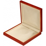 Large Necklace Box: Beechwood/Cream