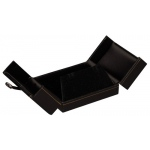 2-Door Flap Earring/Pendant Box: Black