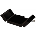 2-Door Drop Earrings Box: Black