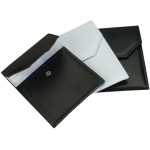Leather Necklace Folder: Black/White