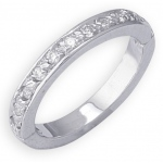 14k White Gold Diamond Toe Ring: Size 3.75