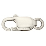 14K White Gold Lobster Lock: 14.0mm x 5.5mm