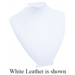 Medium Standing Bust Display: Off-White Leather