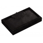 Necklace Tray: Black Suede