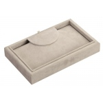Necklace Tray: Gray Suede