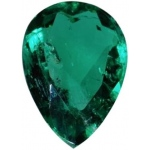 Pear Shape Synthetic Emerald: 13.0mm x 9.0mm, 3.50cts