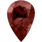 Pear Shape Synthetic Garnet: 13.0mm x 9.0mm, 3.50cts