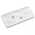 12 Ring Stackable Tray: White