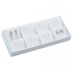 8-Earring Stackable Tray: White