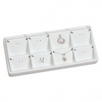 8-Pendant Stackable Tray: White