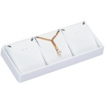 3-Pendant Stackable Tray: White