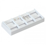 8-Earclip Stackable Tray: White