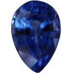 Pear Shape Synthetic Sapphire: 13.0mm x 9.0mm, 3.50cts