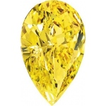 Pear Shape Synthetic Yellow Topaz: 14.0mm x 9.0mm